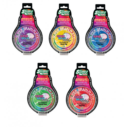 "Slimy Super Brain Putty ""Rainbow-Series"" sort"
