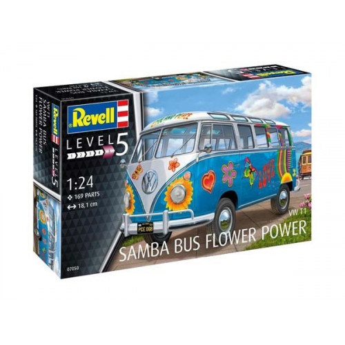 "VW T1 Samba Bus ""Flower Power"" - 180"
